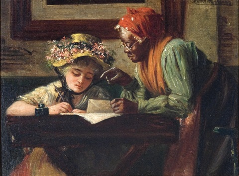 the writing lesson by harry herman roseland