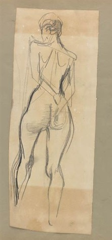collection of approximately 40 drawings album w40 works by george grosz