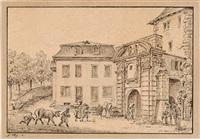 die stadttore von zürich (set of 6) by franz hegi