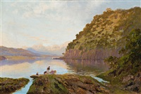 river derwent, tasmania by william charles piguenit