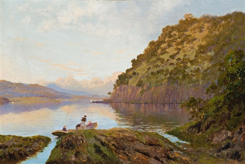 river derwent tasmania by william charles piguenit