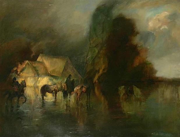 riders in a storm by adolf j jelinek alex