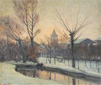 nevicata a milano by alfonso corradi
