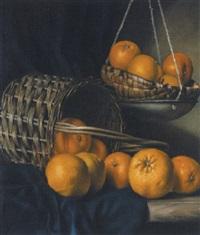 stilleben mit orangen by franz leitgeb