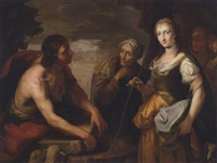 jacob and rachel at the well by cesar boetius van everdingen