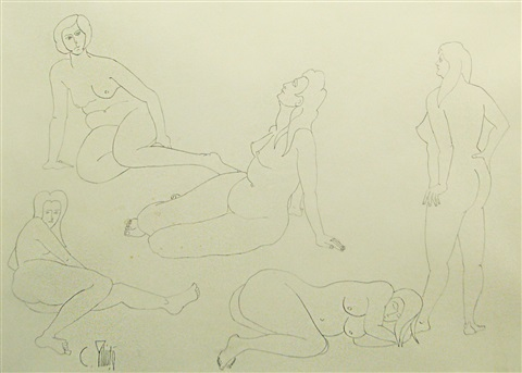 nude sketches by constantin piliuta