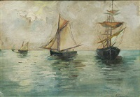 sail boats by eugen (cean) voinescu