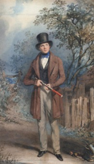 portrait of a country gentleman by frederick thomas lines