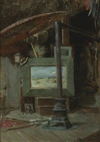 the artist's studio by john bond francisco