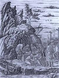 la sepultura di gesù con tre uccelli by giovanni antonio da brescia