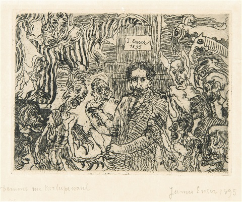 démons me turlupinant by james ensor
