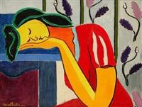 jeune fille au repos by marcel burtin