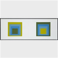 homage to a square (4 works) by josef albers