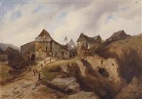 dorf in der nähe von altenberg by heinrich eduard muller