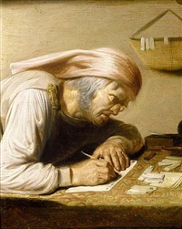 the bookkeeper by jan van de venne