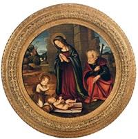 the holy family with the infant st. john the baptist by filippo (filippino) lippi