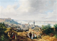 view of pest-buda from gellért hill by josef holzer