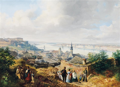view of pest buda from gellért hill by josef holzer