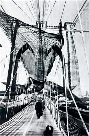 brooklyn bridge by burhan cahit dogançay