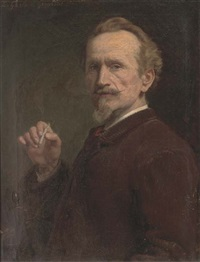 a whiff, self-portrait of the artist by ernest gustave girardot