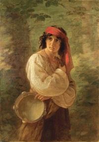 tambourine player by georg hom