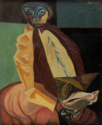 man and pig by robert colquhoun