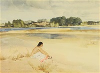 anne marie by the loire by william russell flint