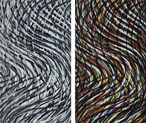 wavy lines set 2 works by sol lewitt