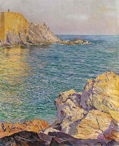 coastal view of brittany by antoni jan austen