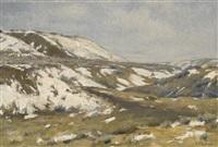 edge of the bighorns by joseph henry sharp