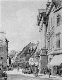 rathaus in baden by franz bilko