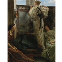 who is it ? (inquisitive) by sir lawrence alma-tadema