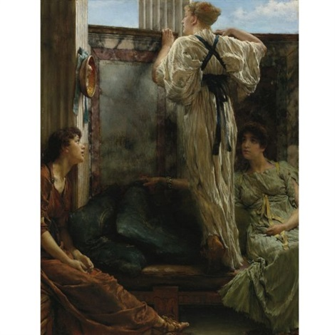 who is it inquisitive by sir lawrence alma tadema