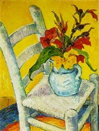 flowers on chair by olive pemberton