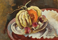 still life with fruits by lucretia mihail-silion