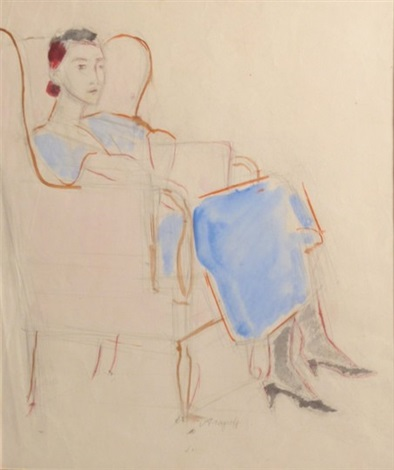 catherene arapoff sitting in a chair by alexis paul arapov