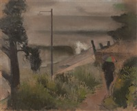 grey day on the derwent by jack carrington smith