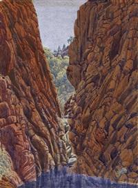 narrow gap, james range by albert namatjira