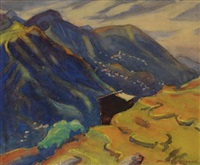 mountain landscape by margaret jordan patterson