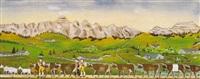alpabfahrt mit alpstein by hermann naef