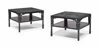 engrenage coffee tables (pair) by ingrid donat