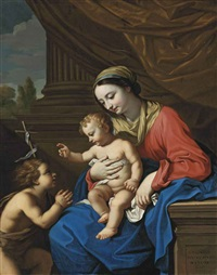 the virgin and child with the infant saint john the baptist by nicolas mignard