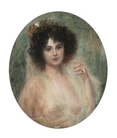 portrait de femme by pierre carrier belleuse