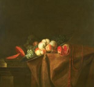 nature morte aux pêches grenade et autres fruits nature morte aux légumes pair by a babron