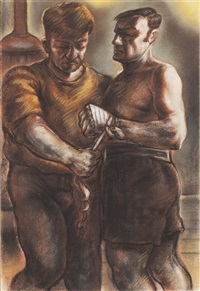 before the fight by peter howson