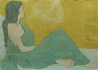 femme au sari by sushil sen