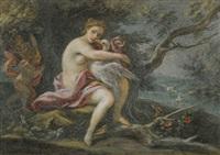 leda and the swan by filippo falciatore