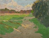 sommerliche landschaft by eva langkammer