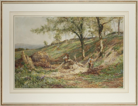 woodsmen at work by james aumonier