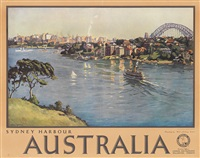 sydney harbour/australia by john william (sir) ashton
